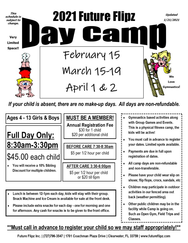 2021 Day Camp Flyer cLEARWATER1 768x994 1